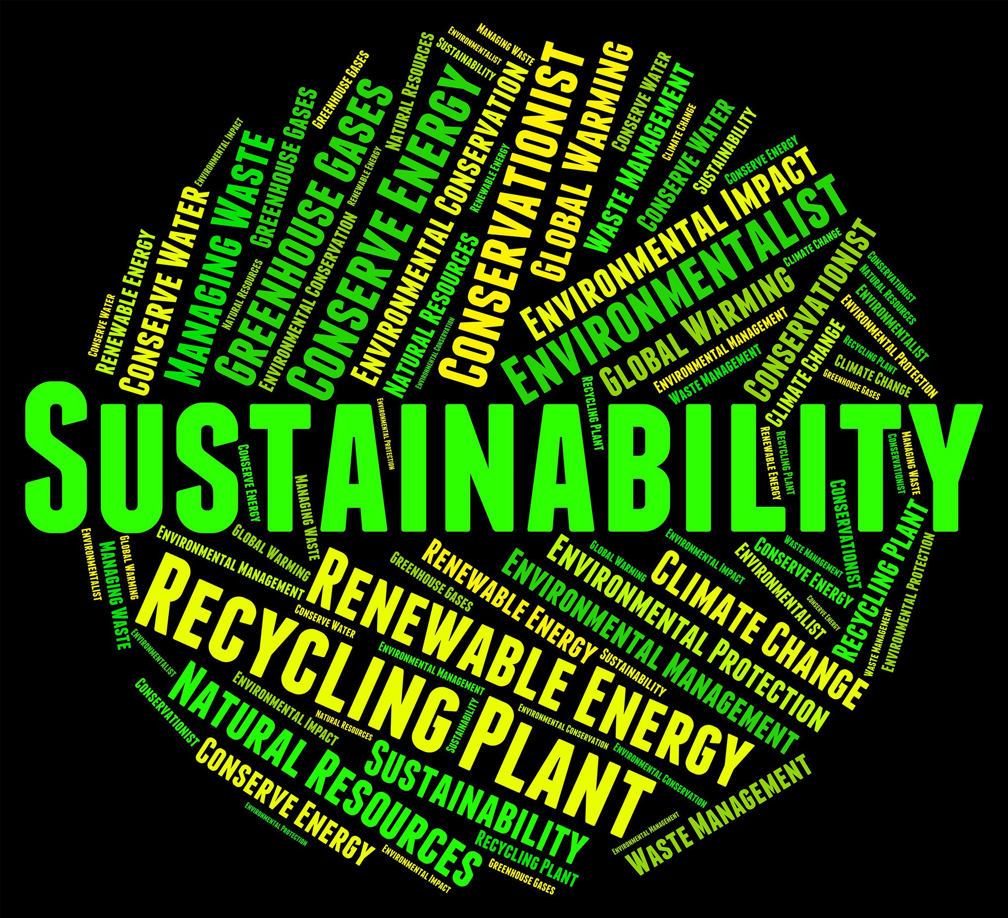 Words linked to sustainability