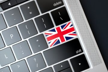 UK flag on a keyboard